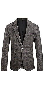 Men's Dress Floral Suit Notched Lapel Slim Fit Stylish Blazer Casual One Button Jacket Sport Coat