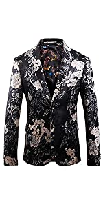 printed tux blazer,men floral print suit for wedding, prom, theme party, performance and ect