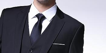 mens 3 piece suit slim fit Notched Lapel Solid Color Formal business suit set