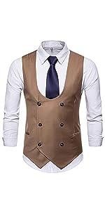 vintage retro double-breasted suit vest