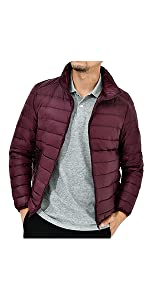 Down jackets without hood
