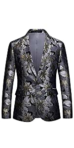 men floral print suit,floral blazer men,blue white floral dress
