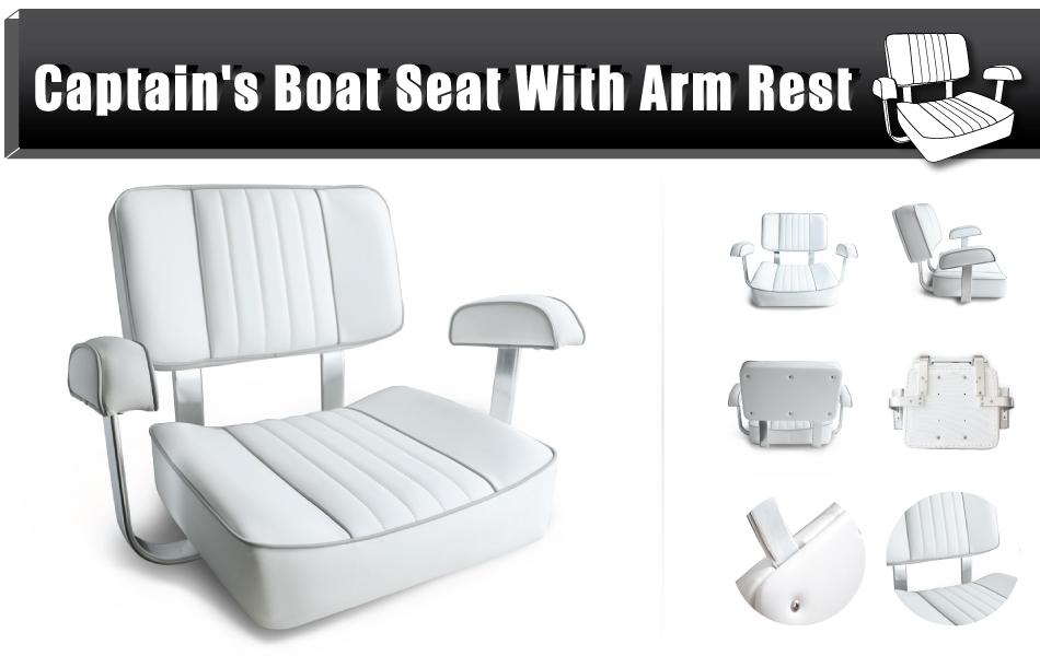 Amazon Com Leader Accessories White Captain S Seat Boat