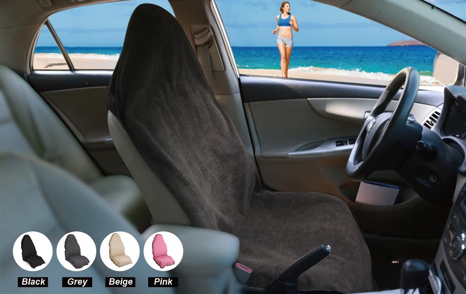 Auto Bucket Seat Covers Sweat Towel Seat Protector Machine Washable ...