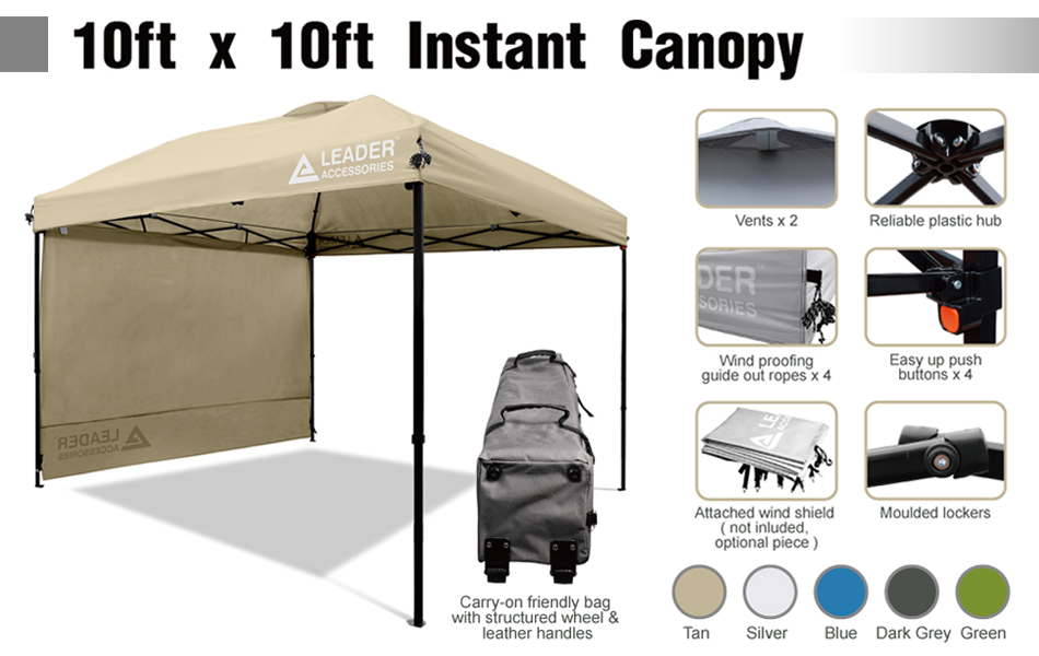 Amazon.com : Leader Accessories 10'x10' Instant Canopy Pop
