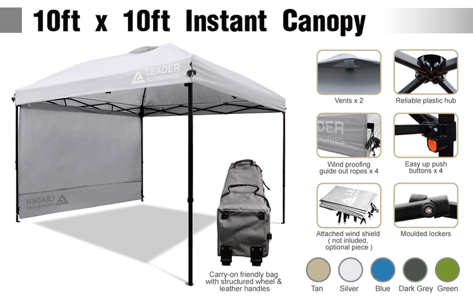 Amazon.com : Leader Accessories 10' X 10' Pop Up Canopy