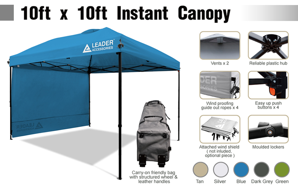 Amazon.com : Leader Accessories Instant Pop Up Canopy