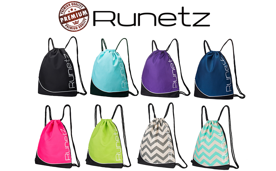 Drawstring Backpack Colorful Chevron Shoulder Bags