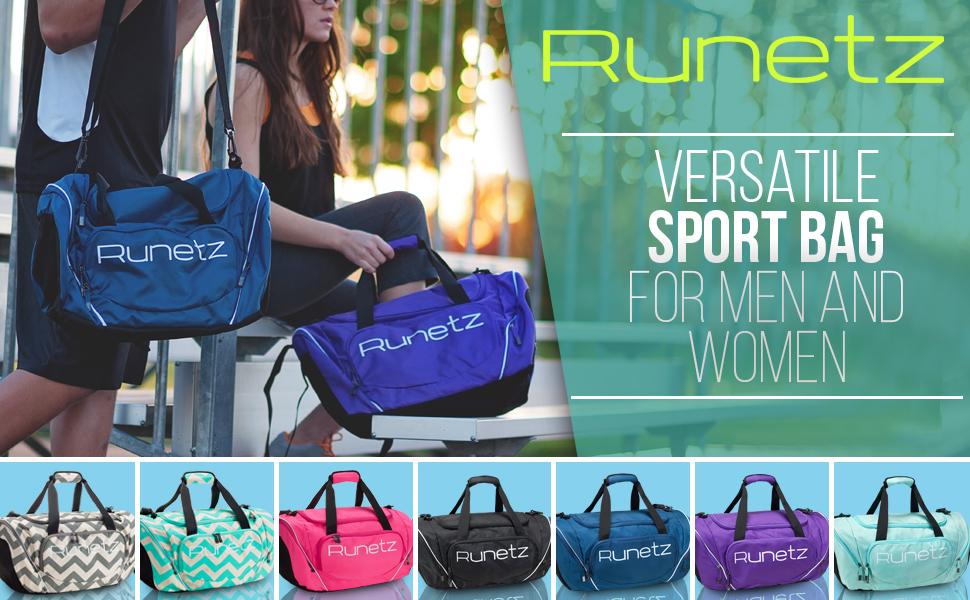 3ab4269cdd49 Amazon.com  Runetz - Gym Bag for Women and Men - Ideal Workout ...