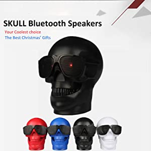WJM Skull Wireless MP3 Speaker Ghost Amplifiers Protable Bluetooth Evil  Home Speakers Demon Belial Adult Toys Stereo Bass Sound Best Christmas  Saints