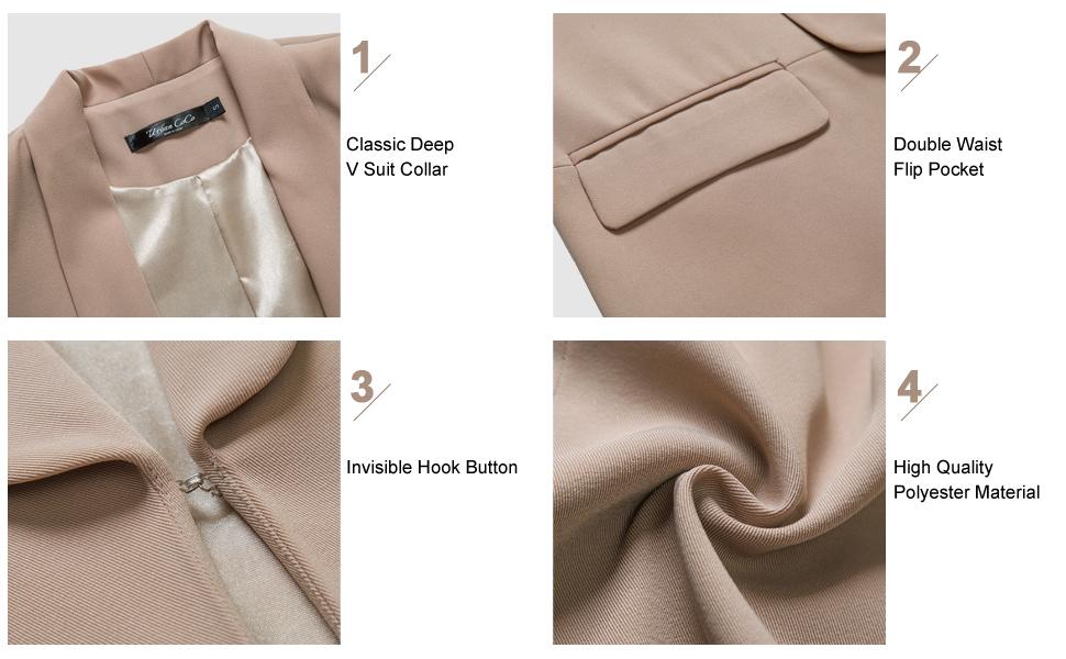 Urban CoCo Womens Office Blazer Jacket Open Front