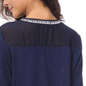 back chiffon patchwork