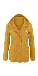 fe377635612 KOGMO Womens Military Anorak Safari Jacket Coat with Pockets · Kogmo Womens  Military Anorak Jacket with Knit Hood and Pockets · KOGMO Womens Zip Up  Anorak ...