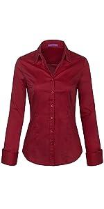 501cf18a KOGMO Womens Classic Solid 3/4 Sleeve Button Down Blouse Dress Shirt (S-3X)  · KOGMO Womens Long Sleeve Button Down Shirts Office Work Blouse (S-3X) ...