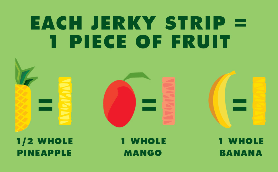 1 whole piece of fruit equals one fruit jerky