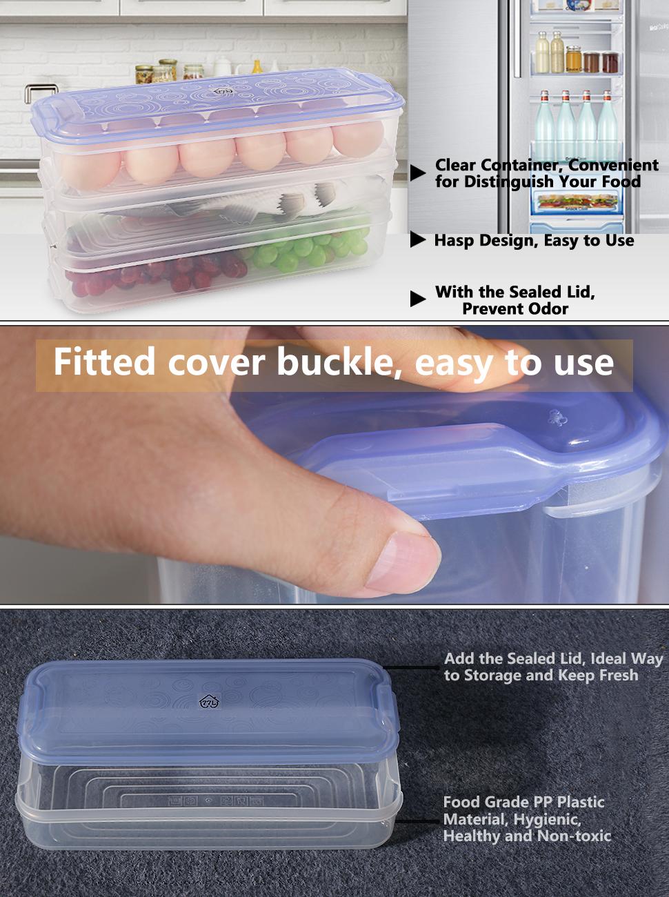 Freezing Box Fridge Keep Fresh Container Sealed Meet Fish Food Cold Storage Box
