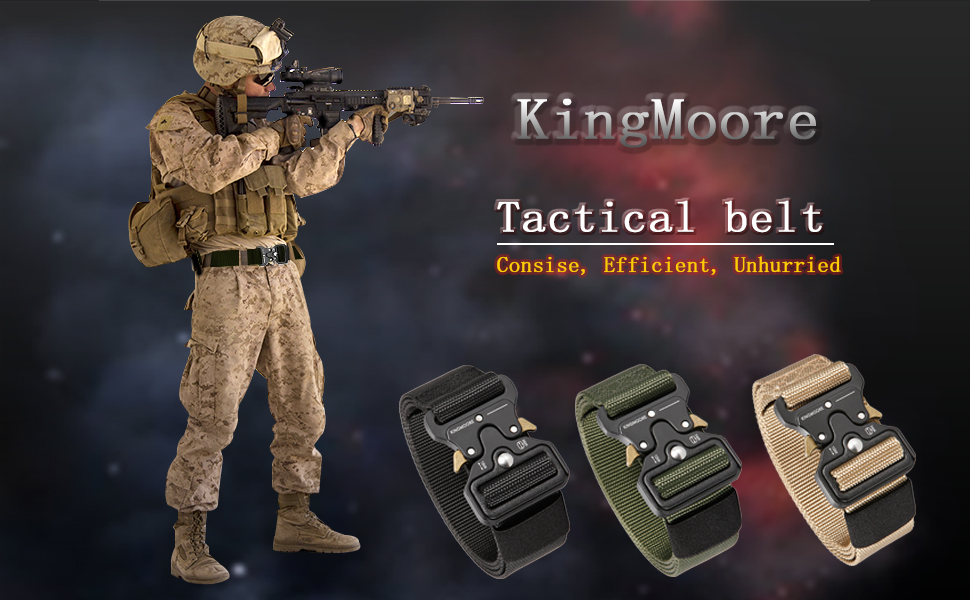 Tactical Web heavy duty nylon Military EDC Adjustable Belt