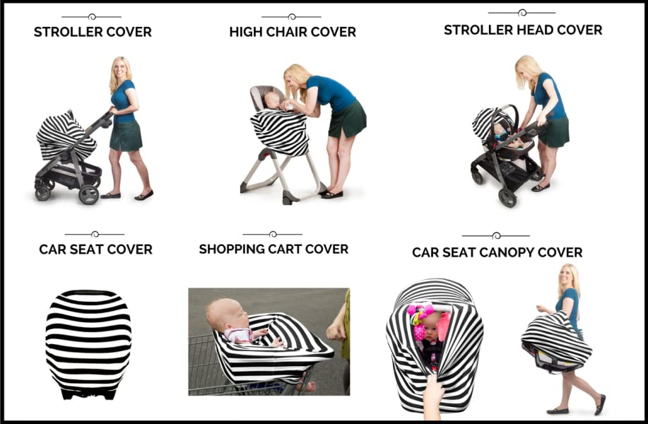 Kiddo Care Car Seat Covers Are Easy To Use Put On And Take Off Of Your See Access Baby While Nursing Breastfeeding