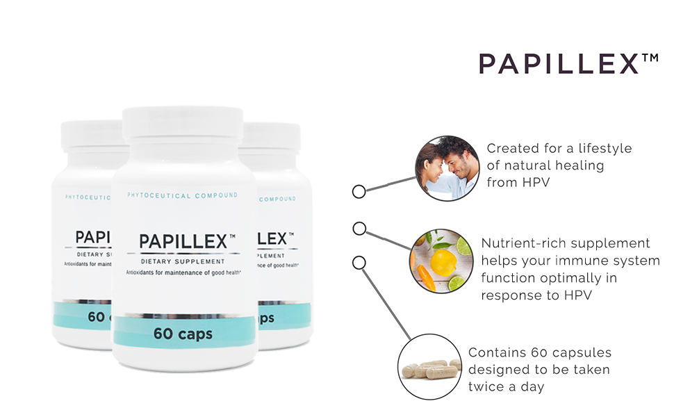 Dietary Supplement Tablets by PapillexTM | Naturally Respond to HPV | Human  Papillomavirus | 60