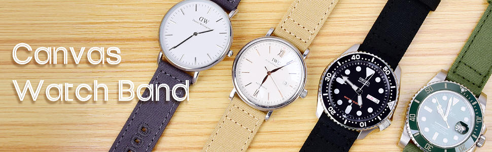 Canvas watch bands