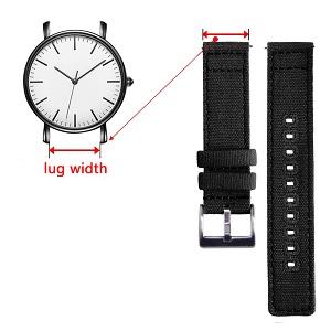 Watch band width