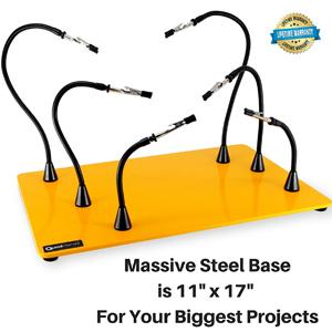 Quad Hands | Jumbo Workbench | 6 Helping Hands & 1 Magnet