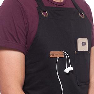 chest pocket bbq grill apron