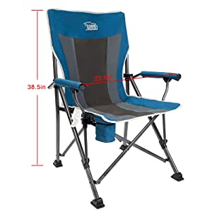Amazon Com Timber Ridge Camping Chair Ergonomic High