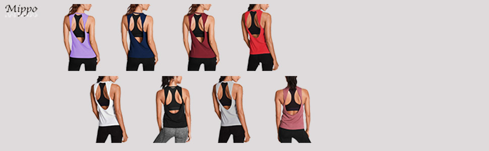 1ef3c006aaeb58 It s available in a choice of colors. Mippo Womens Activewear Sexy Open  Back Yoga Shirt Workout Clothes Sports Gym Tank Tops