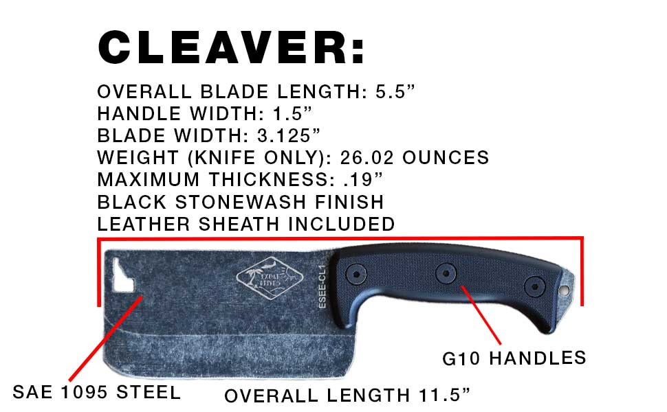 Esee Cleaver Specifications