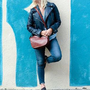 Floto Italian Leather Saddle Bag, Shoulder Bag, Crossbody Bag, Roma, Brown