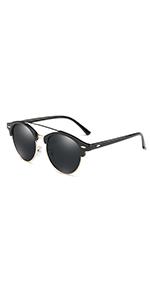 3583225f709 Dollger Polarized Vintage Sunglasses for Men Women Round Rimless Mirrored  Lens · Dollger Clip On Double Lens Round Sunglasses Steampunk Mirrored  Sunglasses ...