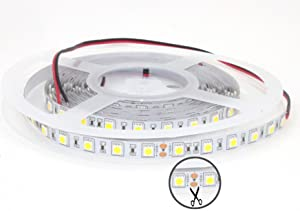 Amazon ledmy flexible led strip lights ule477884 dc 24v 72w product specifications led cree smd 5050 300 reel strip length 5 meters 164ft size w10h22mm light color natural white4000k aloadofball Image collections