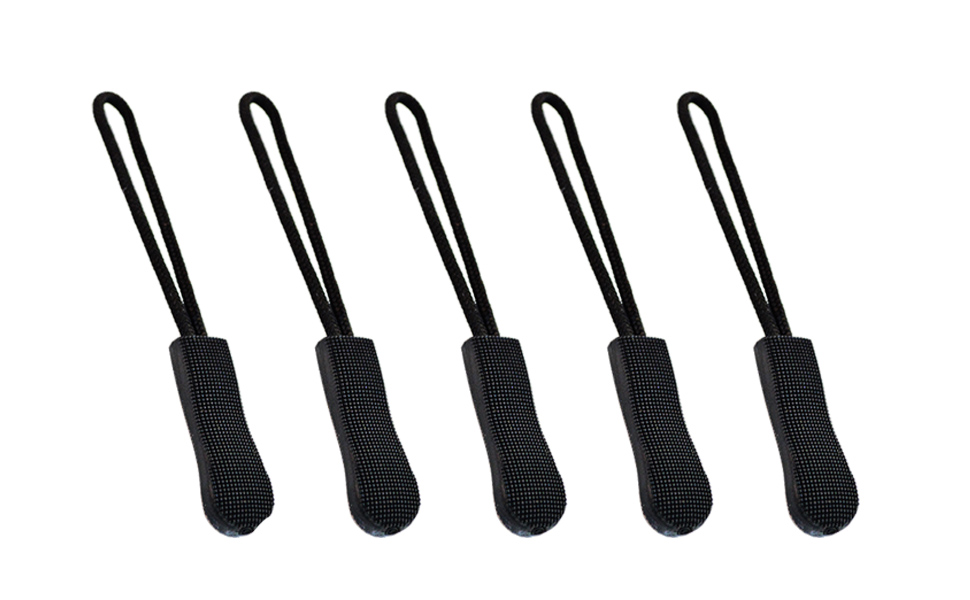 Zipper Pulls Nylon Cord Zipper Pulls Fits Zipper Fixer Black,6 PCS