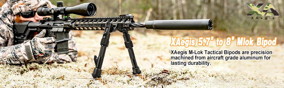 "Tactical Rifle M-LOK Rail Handguard Bipod Center Height 6/"" 8/"" Aluminum"