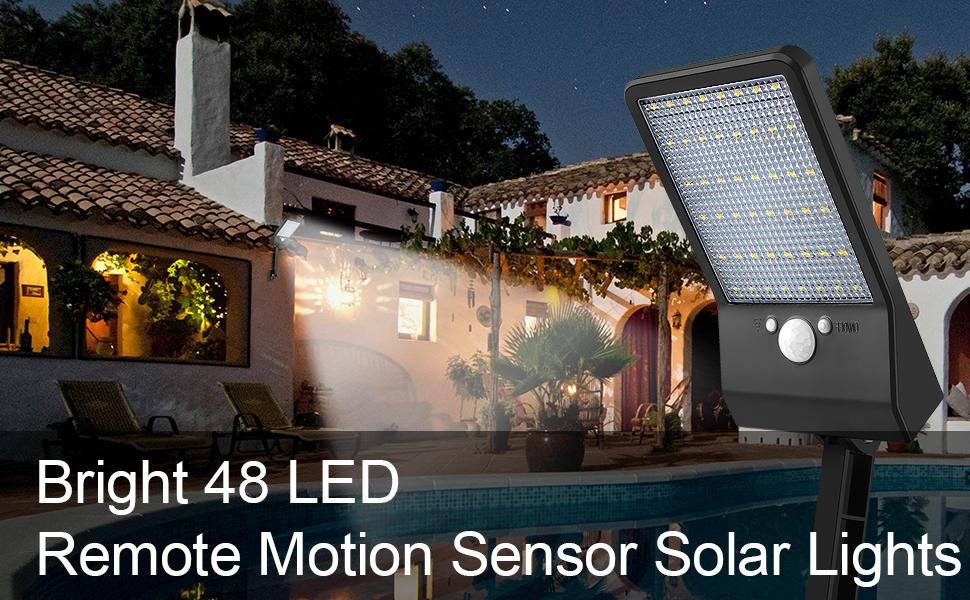 48 Led Remote Solar Lights Outdoor