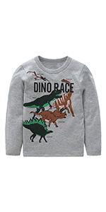 b1a195efcd08 Boys Dinosaur T Shirts Cotton Long Sleeve Shirt Graphic Tees · Boys Cotton  Long Sleeve T-Shirts T Rex Dinosaur Shirt Graphic Tees · Boys Cotton Long  Sleeve ...