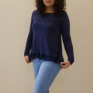8f7b733c48eb QIXING Women's Tops Short Sleeve and Long Sleeve Lace Trim O-Neck A-Line  Tunic Blouse