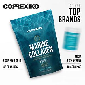 Compare collagen vital proteins