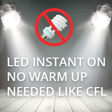 Instant on LED bulbs