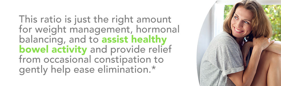 perfect ration for weight management, hormonal balancing and assisting healthy bowel activity