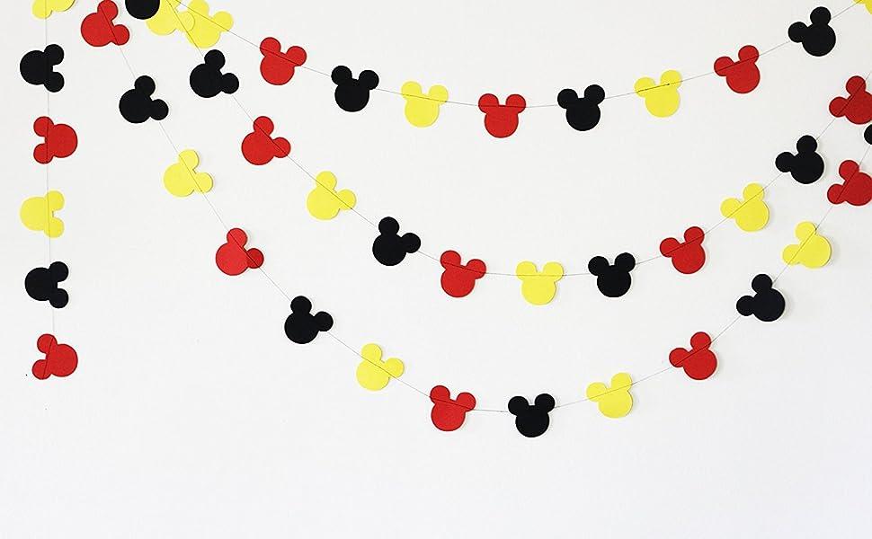 Amazon.com: Guirnalda de Mickey Mouse – Guirnalda de papel ...
