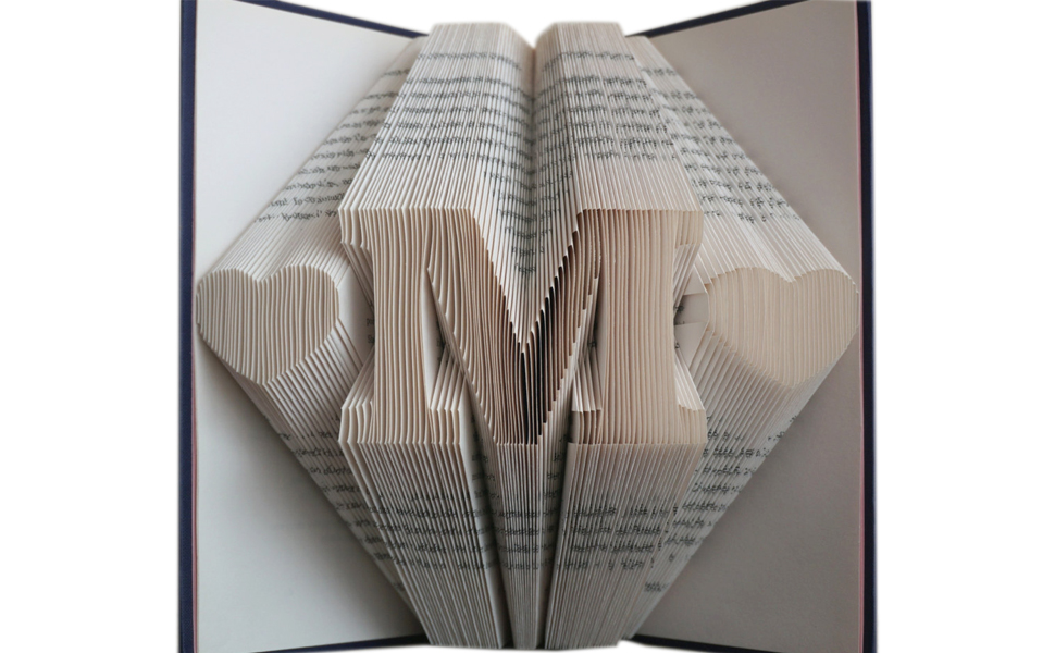 Amazon Com Folded Book Art Love Pattern Paper