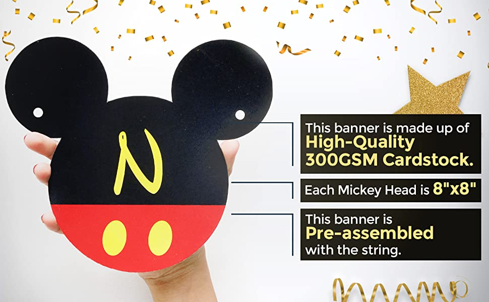 amazon com mickey mouse 1st birthday banner one birthday banner