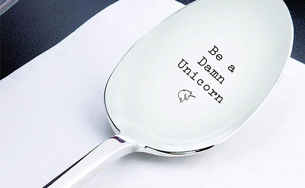 Be a Damn Unicorn spoon