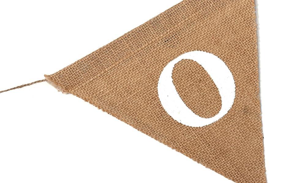 one burlap banner
