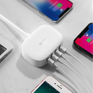 the product charging 4 USB charged devices simultaneously.