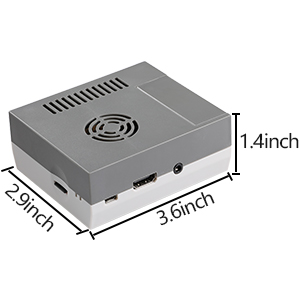 Hikig NES Case for Raspberry Pi 3, 2 and B+ / Mini NES Shell for Raspberry Pi 3 B with Screws and Screwdriver - Color Gray
