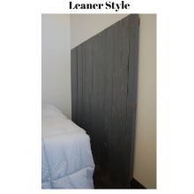 Leaner style, gray headboard, country, farmhouse, rustic, bed room furniture