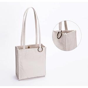canvas shoulder bag handbag messanger sling bag large beige over the shoulder purse multifunctional